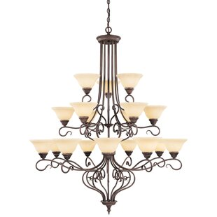Darby Home Co Lewisboro 18-Light Shaded Chandelier