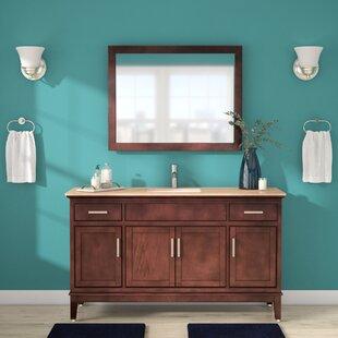 Jacksonwald 60 inch  Single Bathroom Vanity Set with Mirror