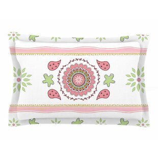 Cristina Bianco Design 'Rose & Green Mandala Design' Painting Sham