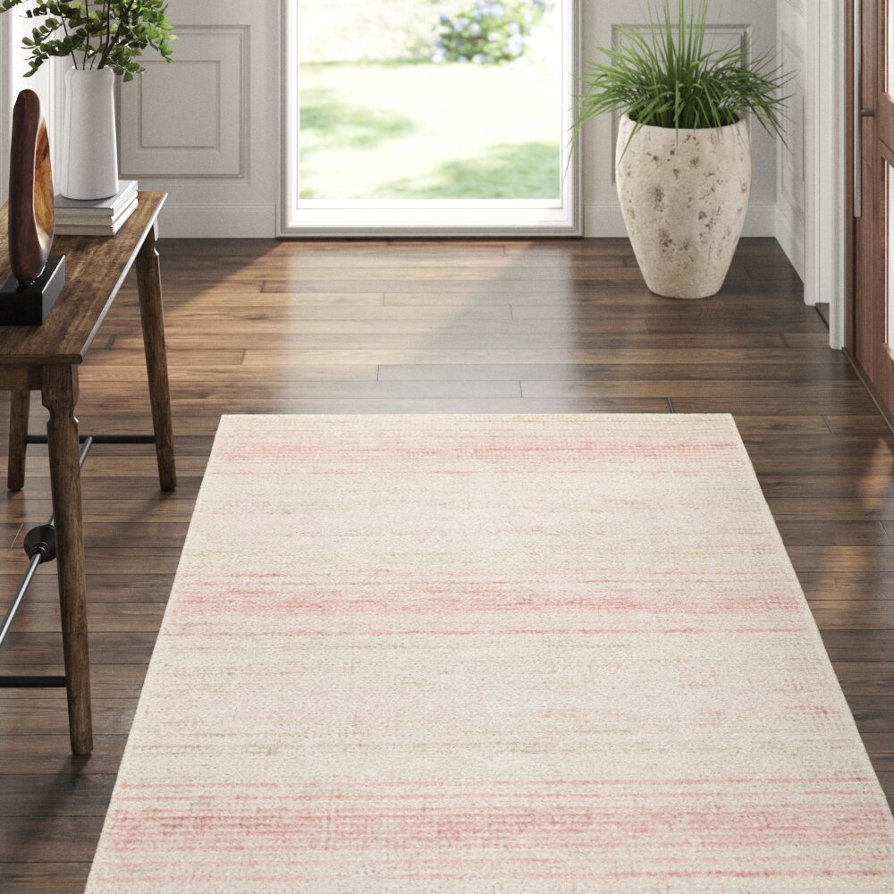 Dash And Albert Rugs Aurora Hand Knotted Ivory Pink Area Rug Perigold