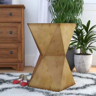 Sheraton Faceted Stool with Brass Cladding