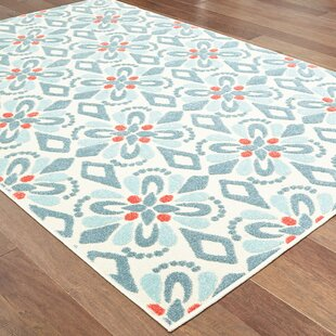 Gerritt Floral Blue Indoor/Outdoor Area Rug