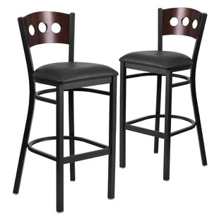 Chafin 32 Swivel Bar Stool (Set of 2) Winston Porter