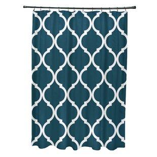e by design French Quarter Geometric Print Shower Curtain