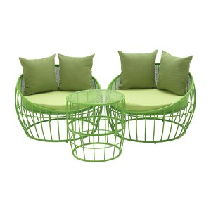3 Piece Lounge Seating Group with Cushion