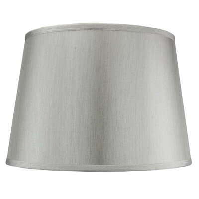 Alcott Hill Traditional 16 Shantung Drum Lamp Shade Color: Gray