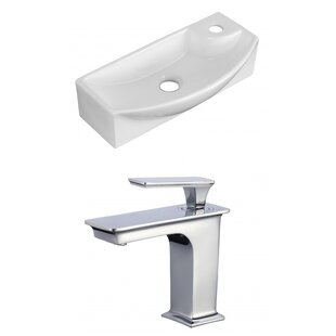 Compare & Buy Ceramic 18 Wall Mount Bathroom Sink with Faucet and Overflow By American Imaginations