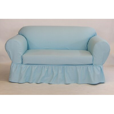 Fantastic August Grove Sofa Skirted Box Cushion Slipcover Upholstery Blue Pdpeps Interior Chair Design Pdpepsorg