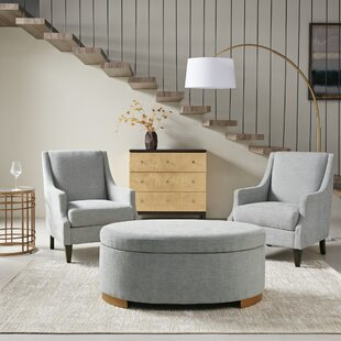 Malcolm Ottoman Deals on by House of Hampton | round ottomans