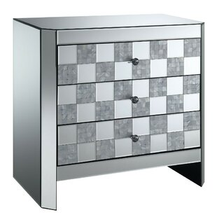 Miraloma 3 Drawer Mirrored End Table