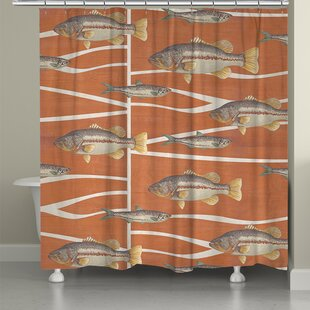 Cabin Life Fish Single Shower Curtain
