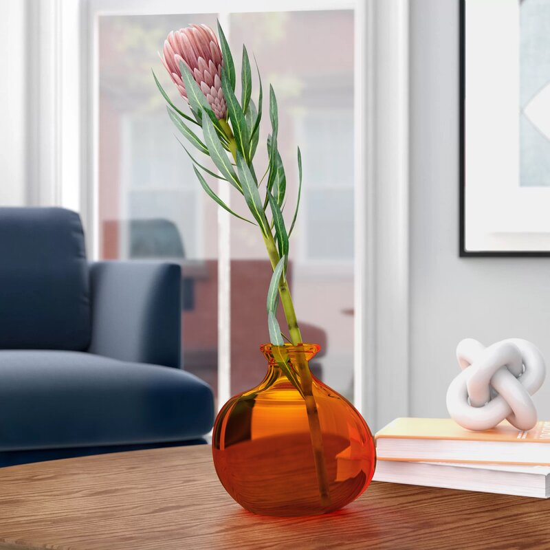 Foundstone Melvin Modern Bubble Recycled 7 Glass Table Vase Reviews Wayfair
