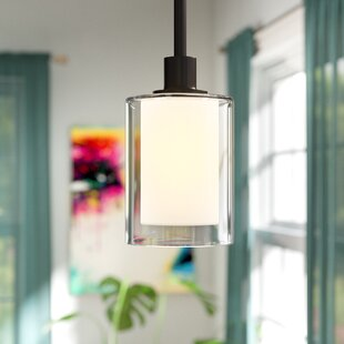Latitude Run Haverville 1-Light Cylinder Pendant