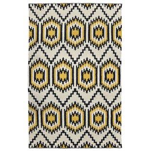 Order Cavelier Hand-Woven Black/Gold Indoor/Outdoor Area Rug ByKosas Home