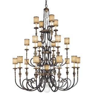 Metropolitan by Minka Terraza Villa 21-Light Shaded Chandelier