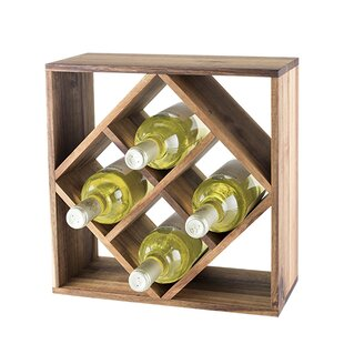 Lattice 8 Bottle Table Top Wine Rack by T..