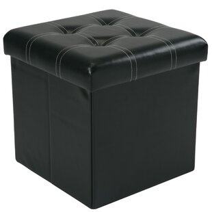 Hixson Stitch Design Collapsible Storage Ottoman by Winston Porter