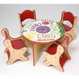 Veggie Kids 5 Piece Table and Chair Set by Playscapes