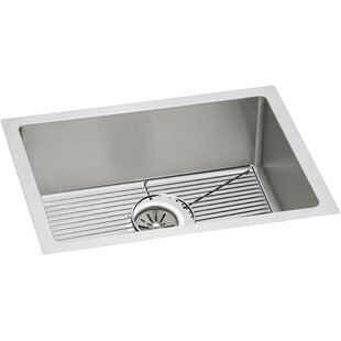 Crosstown 24 L x 18 W Undermount Kitchen Sink with Grid and Drain Assembly by Elkay