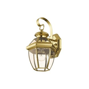 Compare & Buy Gustavson 1-Light Traditional Outdoor Metal Wall Lantern By Three Posts