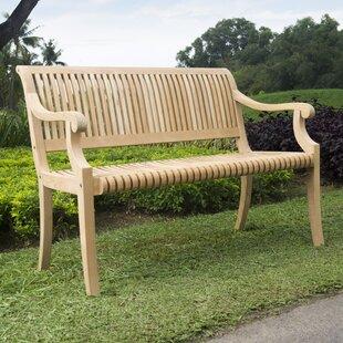 Balster Teak Garden Bench