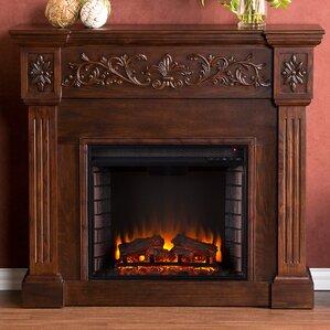bouganville espresso electric fireplace
