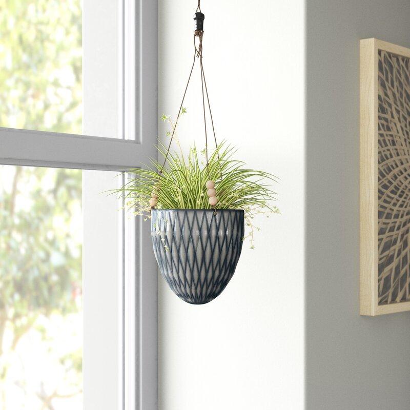 Ashok Round Ceramic Hanging Planter Reviews Joss Main