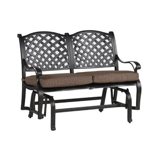 Three Posts Lehmann Glider Bench with Cushions