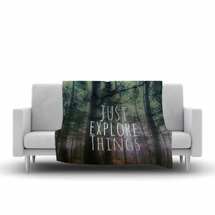 Best Reviews Alison Coxon Just Explore Things Photography Fleece Blanket ByEast Urban Home