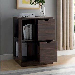 Rebrilliant Dewitt 2-Drawer Mobile Vertical Filing Cabinet