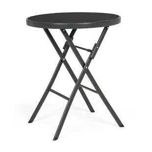 Alake Folding Steel Bistro Table By 17 Stories