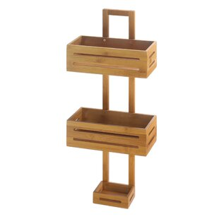 Millwood Pines Thacker Bamboo Shower Caddy