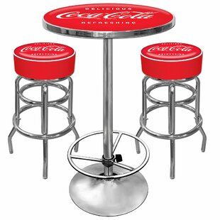Coca Cola 3 Piece Pub Table Set Trademark Global