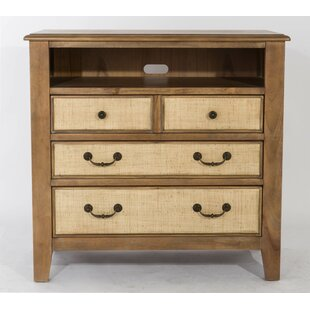 Linen 3 Drawer Media Chest