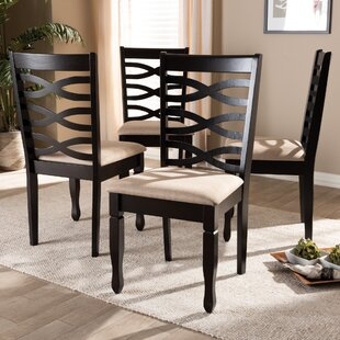 Bottoms Solid Wood Dining Chair (Set Of 4) by Canora Grey Comparison