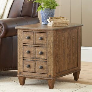 Raegan Chairside Table with Drawers by Alcott Hill