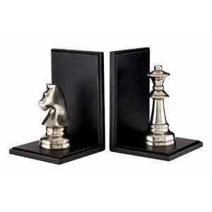 2-tlg. Buchstützen-Set Turin Chess von ClassicLiving