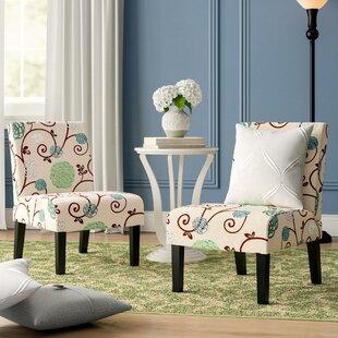 Winston Porter Rivoli Slipper Chair (Set of 2)