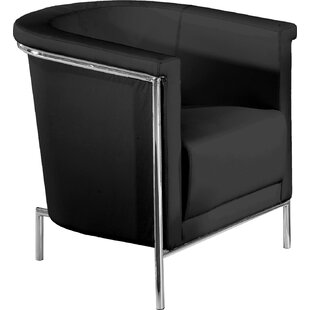 Blanca Leatherette Barrel Chair by Bellini Modern Living