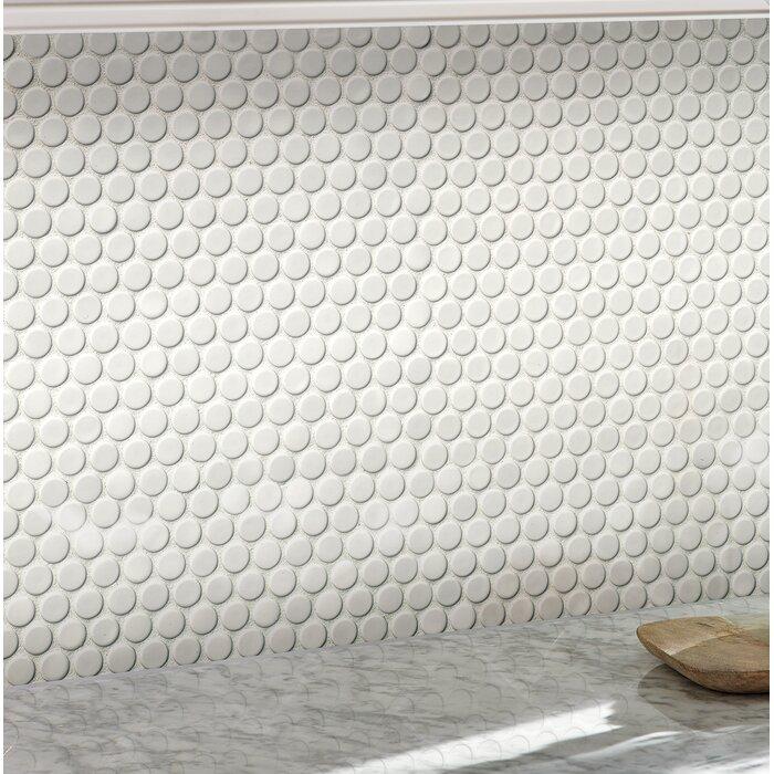 Penny Round 12 X 12 Porcelain Mosaic Tile