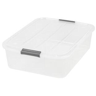 IRIS USA, Inc. 32 Quart Underbed Buckle Up Box