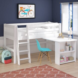 Isabelle Twin Low Loft Bed with Bookcase by Viv  Rae