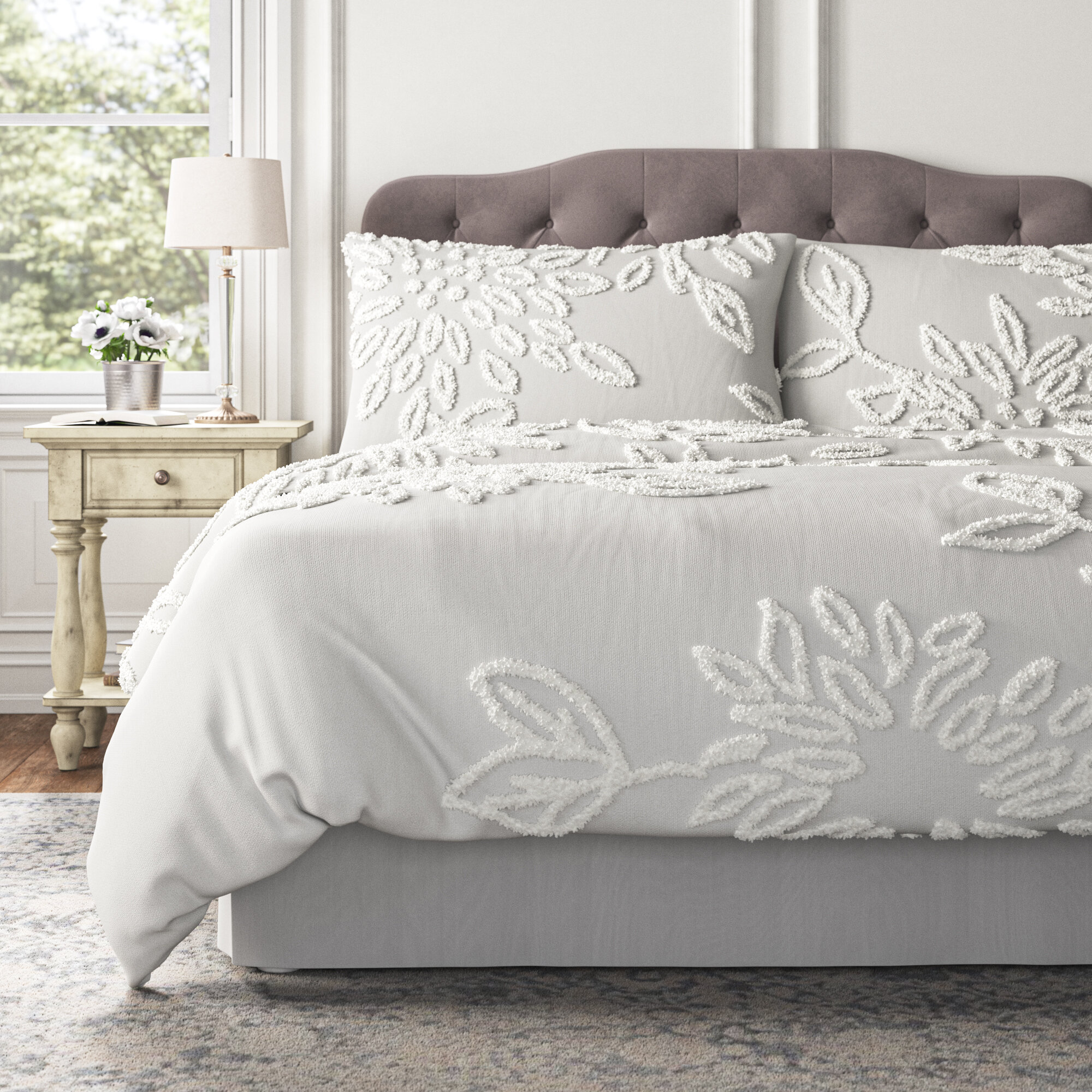 Kelly Clarkson Home Opera 3 Piece Tufted Cotton Duvet Cover Set Reviews Wayfair