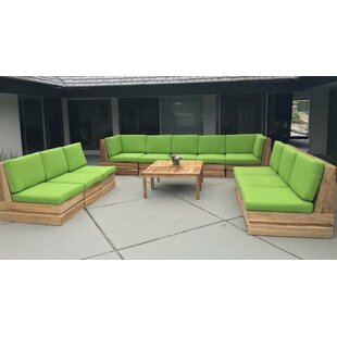 Trijaya Living Seaside 12 Piece Sunbrella Sectional Set with Cushions