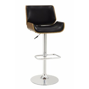 Dylan Adjustable Height Swivel Bar Stool George Oliver