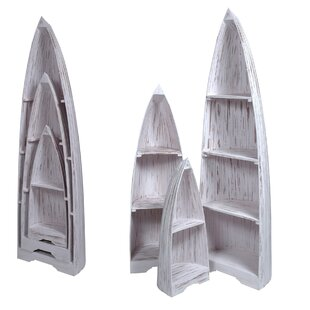Loon Peak Plattsburgh 3 Piece Boat Accent Shelves
