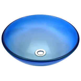 ANZZI Stellar Series Glass Circular Vessel Bathroom Sink