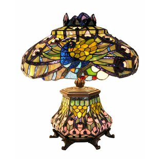 Shopping for Peacock Lantern 23 Table Lamp By Warehouse of Tiffany
