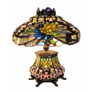 Pieper Peacock Lantern 23 Table Lamp