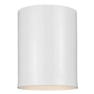 Orren Ellis Leaman 1-Light Outdoor Flush Mount